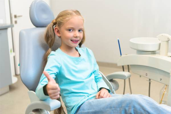 A child ready for phase 1 orthodontic treatment